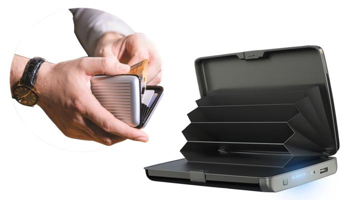 E-Charge Wallet: portofel compact, care poate concomitent să vă încarce telefonul, unde nu v-ați afla