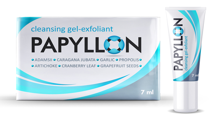 PAPYLLON Gel impotriva papilomelor: eliminării negiilor, papiloamelor și bășicilor uscate timp de 3-5 zile